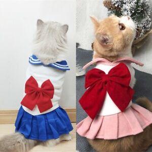 Cartoon Sailor Moon Pet Clothes Cute Cat Dog Cosplay Costumes Uniform Dress Coat