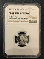 1965 Canada 10 Cents PL67 ULTRA CAMEO *Gorgeous coin* Case Has Some Scratches