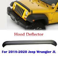 Bug Deflector-Aeroskin Smoke Hood Air Protector For 2018-2020 Jeep Wrangler JL