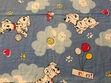 Vintage Dalmatian Toddler Bed Duvet Cover Custom Puppy Hearts Clouds Handmade