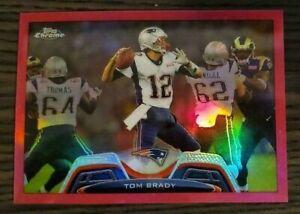 2013 Topps Chrome Pink Refractor Tom Brady /299 Rare Pack Fresh