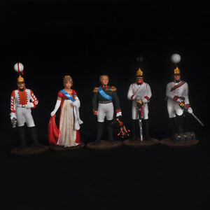 Tin soldier, Set of miniatures, Emperor Alexander the First and Elizaveta 54 mm