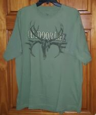 Outdoor Life Buck Skull spell out graphic t-shirt   Size XL