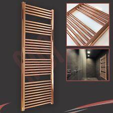 600mm(w) x 1600mm(h) Designer Straight Copper Heated Towel Rail (2945 BTUs)