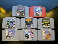Lot of 8 Nintendo 64 games (Authentic) (N64) Contacts Cleaned!!! Works great!!!
