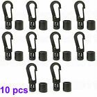 Shock Cord End Hooks for 8mm Bungee Cord Elastic Cord Black Pack of 10/20/50