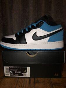 Air Jordan 1 Low SE Laser Blue Black White Size 5y CT1564-004 *BRAND NEW*