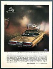 "1965 Ford Thunderbird Convertible photo ""Explore Its World"" vintage print ad"