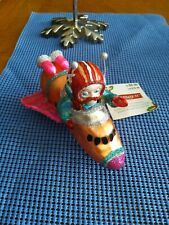 """Celebrate It 5.5"""" Blown glass Space Man in Shuttle Christmas Ornament"""