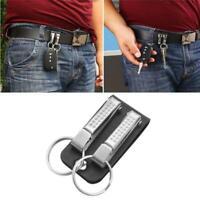 Men Leather Belt Loop Keychain Detachable Clip Belt Key Ring Key Holder Jewelry