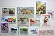 14 Briefmarken Motiv Bär
