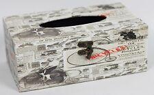 Bicicleta Vintage Tejido Soporte para caja de impresión de periódicos