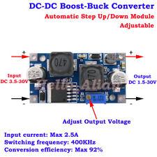 DC-DC Boost Buck Step Up Down Adjustable Converter 3.5-30V to 5V 9V 12V 24V 2.5A