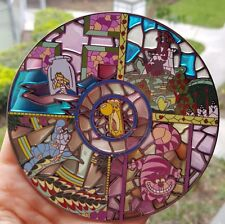 Disney Alice in Wonderland Jumbo Stained Glass Fantasy Pin LE 100