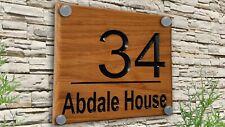 Personalizzati su misura in legno di rovere intagliato inciso//Nome Casa Segno di Pino Placca