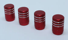 Pack of 4 Aluminium Valve Caps Dust Caps for Schrader Auto Valve Red