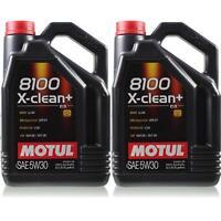 2x5 Liter Original Motul 106377 8100 X-clean+ 5W30 Öl Motoröl VW BMW Porsche