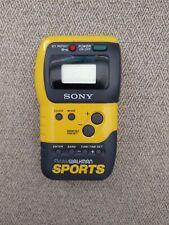 Sony Sports FM/AM Walkman Portable Radio  Yellow. Tested, Works Great!