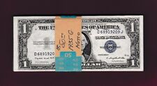 50 RUNS Fr.1617  $1 1935 G WITH MOTTO  SILVER CERTIFICATE D 68919209 J HALF PACK