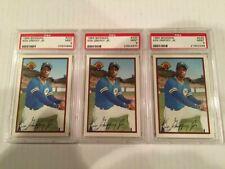 4 Ken Griffey Jr 1989 Donruss Bowman RC Rookie PSA 9 Lot Mariners Reds