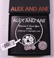 "ALEX AND ANI ""MOM"" Russian Silver Bracelet ~ Retired Charm ~ NWT & Card"