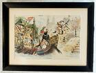 1891 Puck Magazine Centerfold He's No Chinaman by Joseph Keppler - Framed