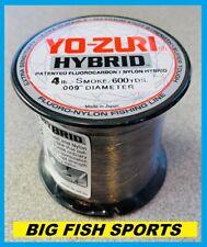 Yo-Zuri Hybrid Fluorocarbon Fishing Line 4lb/600yd Smoke New! Free Usa Ship!