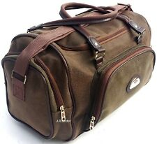 Large Leather Weekend Holdall Duffel Travel Sports Cabin Gym Bag PU faux NEW UK