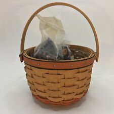 Longaberger Halloween Holiday Pumpkin Basket with Protector and 2 Liners