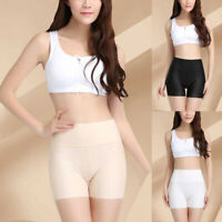 Women's Sexy High Waist Underwear Elastic Breathable Shorts Lingerie Solid Thong