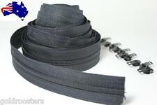 Black Continuous Zip & Slides (size no 4) 5 metres Zipper Upholstery Cushions