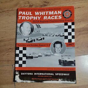 Vintage 1967 Paul Whiteman Trophy Race Program Daytona Speedway scca