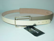 Worth Women's marbled yellow army green leather belt Made Italy-L-NWT NEW