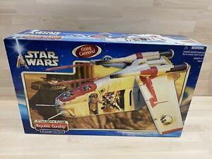 Republic Gunship Star Wars Attack of the Clones Action Ship Set Hasbro AMAZING