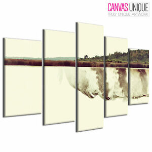 PC893 Abstract Feather Landscape Scenic Multi Frame Canvas Wall Art Print