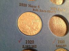 1929 5 Cent Canada, Canadian Nickel, Five Cents