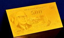 "★★ FINLANDE / FINLAND : BILLET POLYMER  "" OR "" DU 500 MARKKAA 1975 ★★"