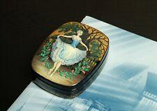Russian Ballet lacquer box Giselle hand-painted jewelry box Kholui miniature art