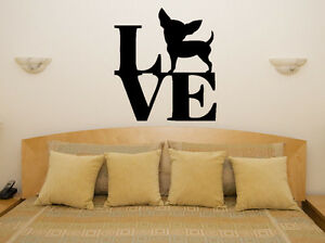 Chihuahua Love Animal Living Room Dining Bedroom Decal Wall Art Sticker Picture