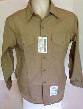 Authentic USMC US Marine Corps Khaki Dress Shirt LS Long Sleeves Med 15 x 34 New