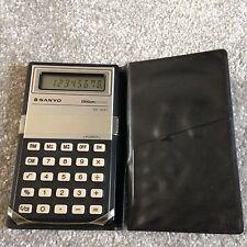 Collectable Vintage Rare Pocket Calculator SANYO CX1221 lithium - fold over case
