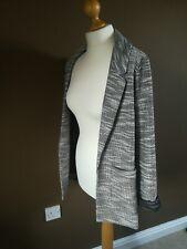 Topshop Black boucle Soft Jersey Jacket Size 10