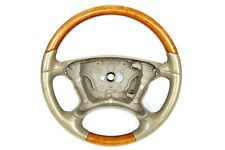 07-09 Mercedes R230 SL550 E350 CLK550 Driver Steering Wheel Beige Wood Trim OEM