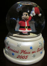 RARE Disney Disneyland Santa Claus Mickey Mouse Christmas Snowglobe Glass Dome