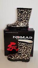 Nomad Puddles II Rain Rubber Boot Tan Leopard, Youth sz. 13 M US New/w/box