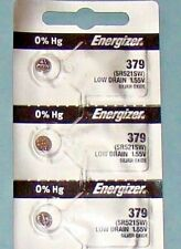 3 Pieces 379 /SR521SW Energizer Watch Batteries  FREE Shipping