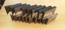 30x AUDIO CASSETTE BLACK CASES WITH PINS.WELL USED BUT NO CRACKS.