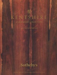 Sotheby's Catalogue THE KENTSHIRE COLLECTION 2014  HB
