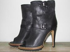 NEW NWB BELSTAFF CROFT PERFORATED ANKLE BOOT BLACK LEATHER SZ 38 - 8 MSRP $995