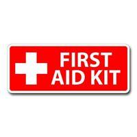 "#1062 3/"" First Aid Kit Inside DOT sticker Truck Bus Label Decal Sticker 1"